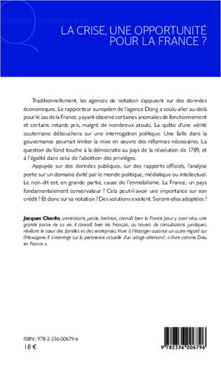 4eme La crise, une opportunité pour la France ?
