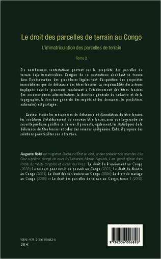 4eme Le droit des parcelles de terrain au Congo (Tome 2)