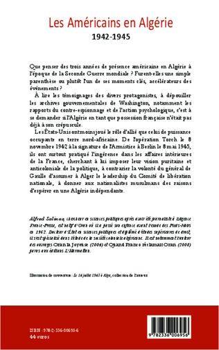 4eme Les Américains en Algérie 1942-1945