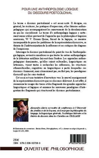 4eme Pour une anthropologie logique du discours postcolonial