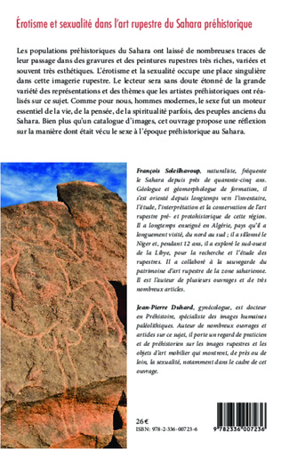 4eme Erotisme et sexualité dans l'art rupestre du Sahara préhistorique