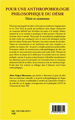 4eme Pour une anthropobiologie philosophique du désir