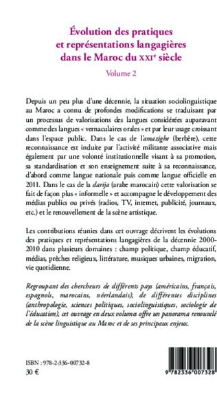 4eme Evolution des pratiques et représentations langagières dans le Maroc du XXIè siècle