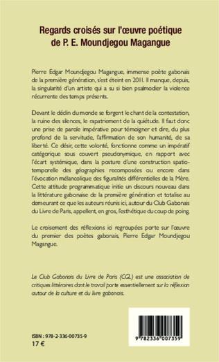 4eme Regards croisés sur l'oeuvre poétique de P.E. Moundjegou Magangue