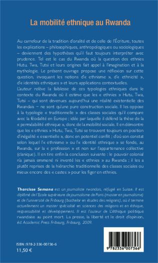 4eme La mobilité ethnique au Rwanda