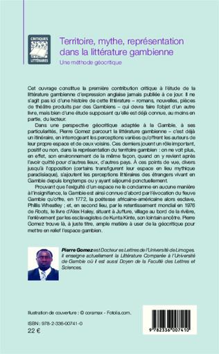 4eme Territoire, mythe, représentation dans la littérature gambienne
