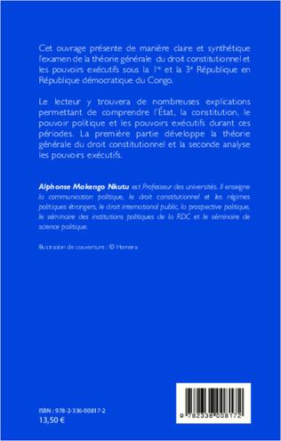 4eme Droit constitutionnel et pouvoir exécutif en RDC