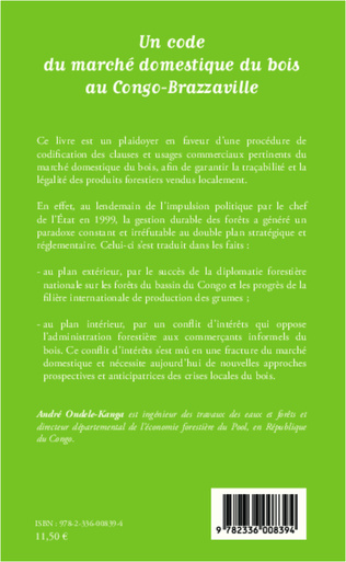 4eme Un code du marché domestique du bois au Congo-Brazzaville