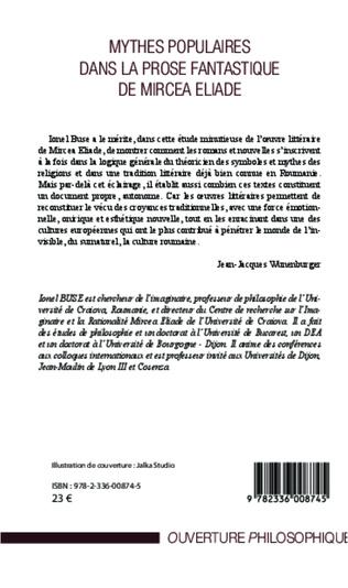 4eme Mythes populaires dans la prose fantastique de Mircea Eliade