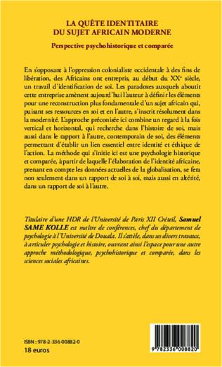 4eme La quête identitaire du sujet africain moderne