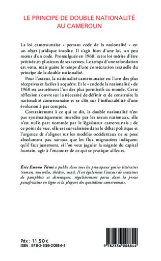 4eme Le principe de double nationalité au Cameroun