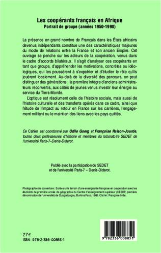 4eme Les coopérants français en Afrique
