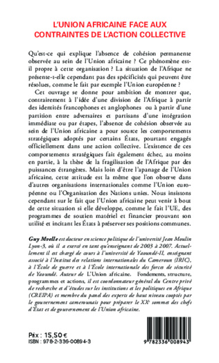 4eme L'Union Africaine face aux contraintes de l'action collective