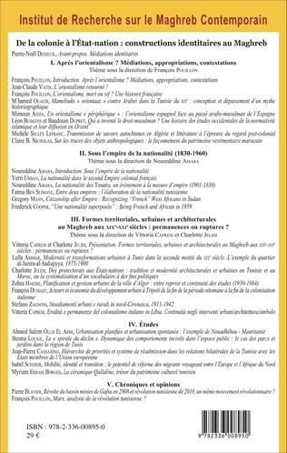 4eme De la colonie à l'Etat-nation : constructions identitaires au Maghreb