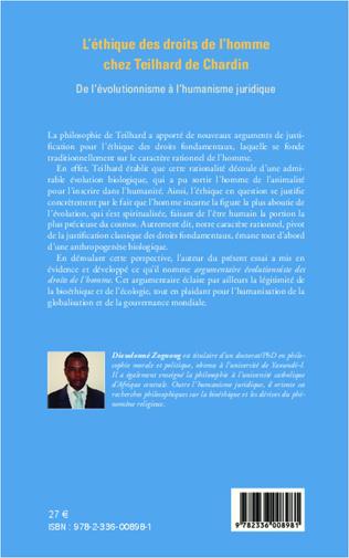 4eme L'éthique des droits de l'homme chez Teilhard de Chardin