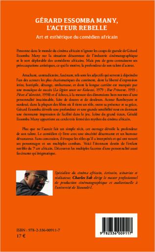 4eme Gérard Essomba Many, l'acteur rebelle