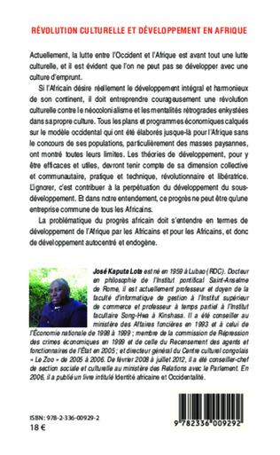 4eme Révolution culturelle et développement en Afrique