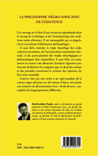 4eme La philosophie négro-africaine de l'existence