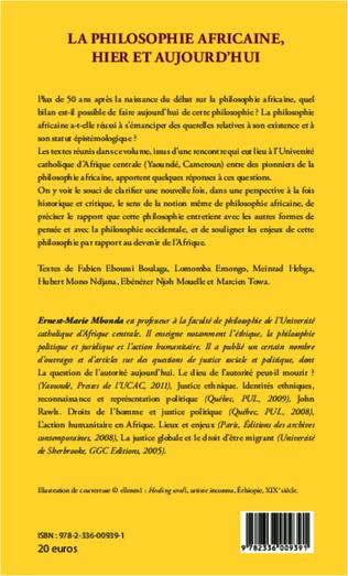 4eme La philosophie africaine, hier et aujourd'hui