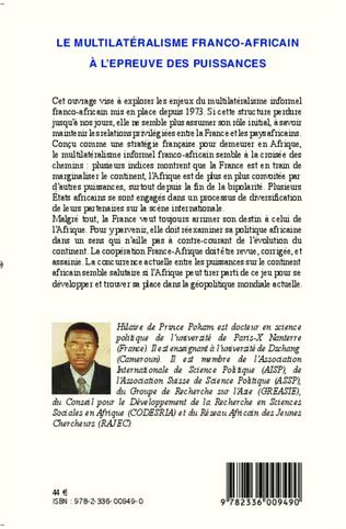 4eme Le multilatéralisme franco-africain à l'épreuve des puissances