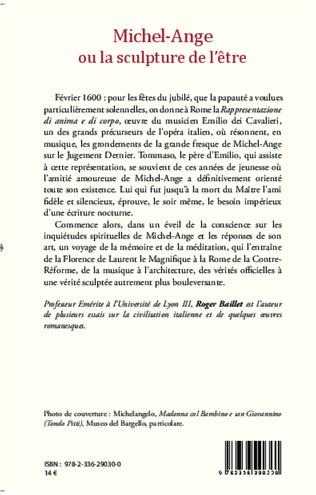 4eme Michel-Ange ou la sculpture de l'être