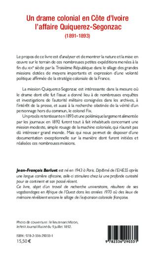 4eme Un drame colonial en Côte d'Ivoire