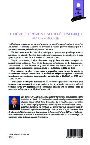 4eme Le développement socio-économique au Cambodge