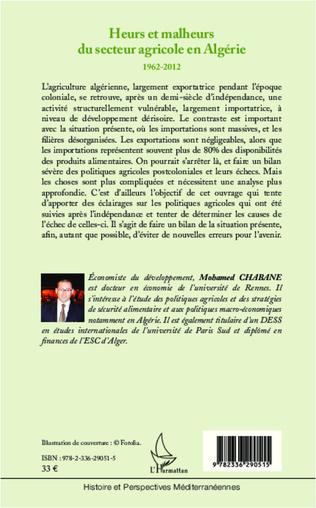 4eme Heurs et malheurs du secteur agricole en Algérie 1962-2012