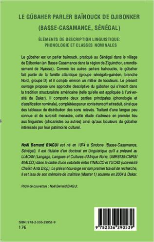 4eme Le gúbaher, parler baïnouck de Djibonker (Basse-Casamance, Sénégal)