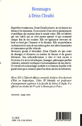 4eme Hommages à Driss Chraïbi