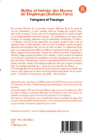 4eme Mythe et histoire des Moose du Kirigtenga (Burkina Faso)