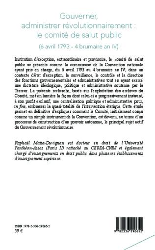 4eme Gouverner administrer révolutionnairement : le comité de salut public