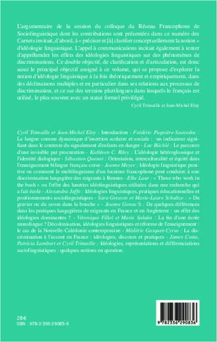 4eme Idéologies linguistiques et discriminations