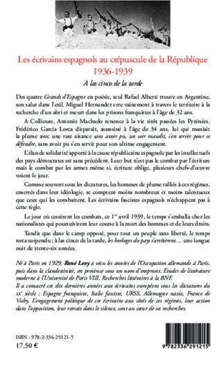 4eme Les écrivains espagnols au crépuscule de la République