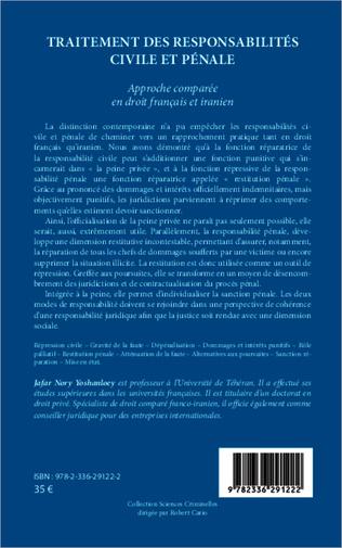 4eme Traitement des responsabilités civile et pénale