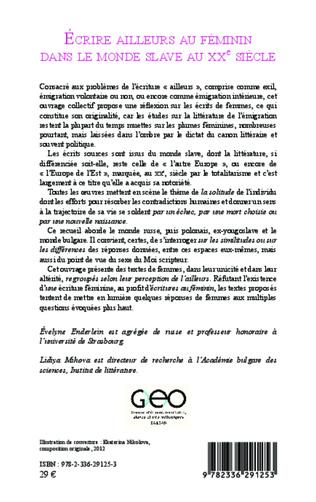 4eme Ecrire ailleurs au féminin dans le monde Slave au XX eme siècle