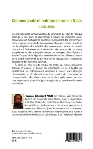 4eme Commerçants et entrepreneurs du Niger