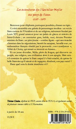 4eme Les aventures du chevalier Mylio au pays de Siam (1685-1689)