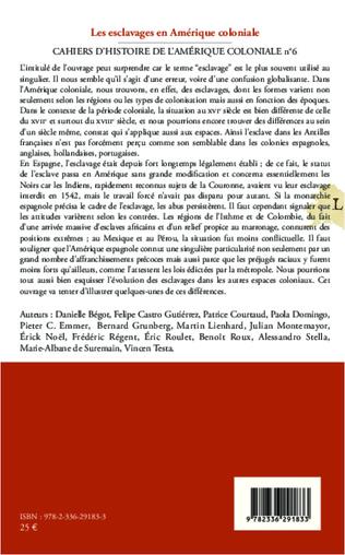 4eme Les esclavages en Amérique coloniale