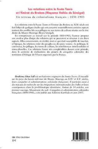 4eme Les relations entre le Fuuta Tooro et l'Emirat du Brakna (Moyenne Vallée du Sénégal)