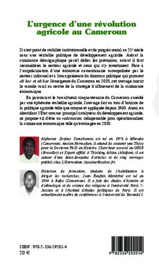 4eme L'urgence d'une révolution agricole au Cameroun