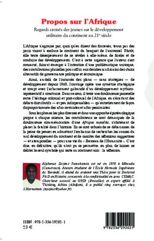4eme Propos sur l'Afrique