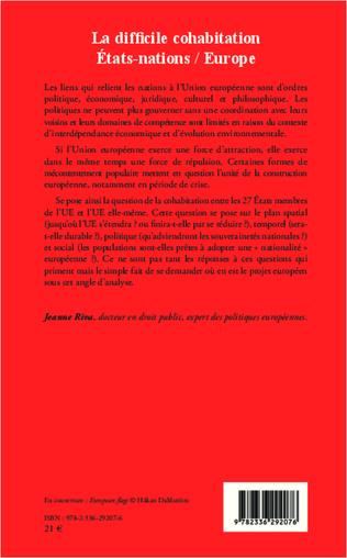 4eme La difficile cohabitation Etats-nations / Europe