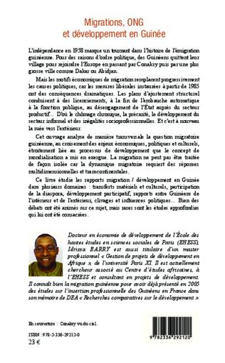 4eme Migrations, ONG et développement en Guinée
