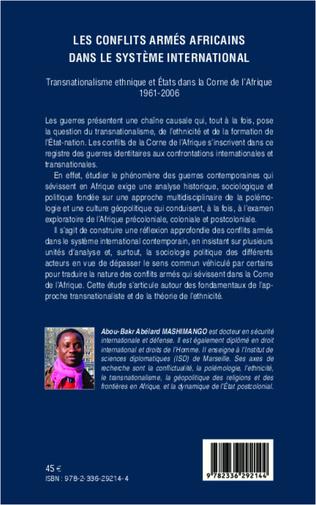 4eme Les conflits armés africains dans le système international