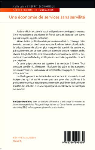 Une économie de services sans servilité - Philippe Madinier