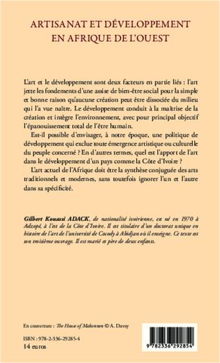 4eme Artisanat et développement en Afrique de l'Ouest