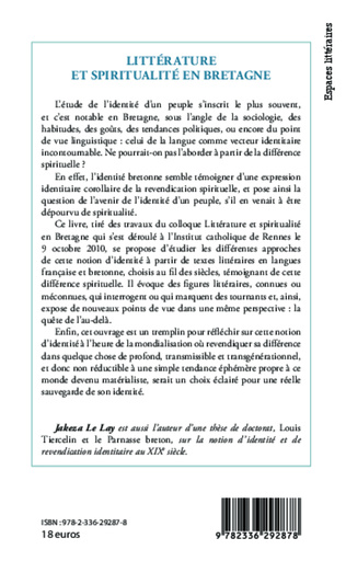 4eme Littérature et spiritualité en Bretagne