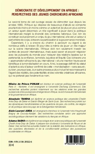 4eme Démocratie et développement en Afrique : perspectives des jeunes chercheurs africains (Tome 2)