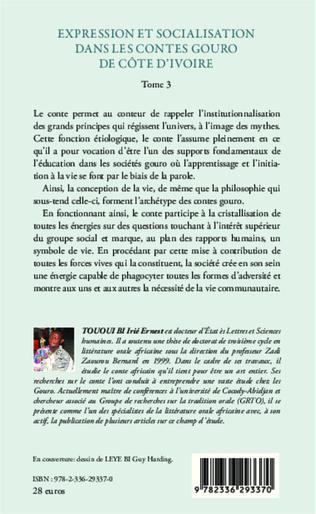 4eme Expression et socialisation dans les contes gouro de Côte d'Ivoire Tome 3